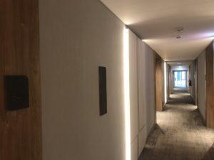 viešbučio koridorius